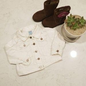 Old Navy white jean jacket